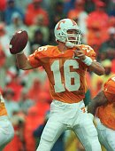 Quarterback Peyton Manning of Tennessee fades back in the pocket against Florida during the first quarter of their matchup at Knoxville Tennessee...
