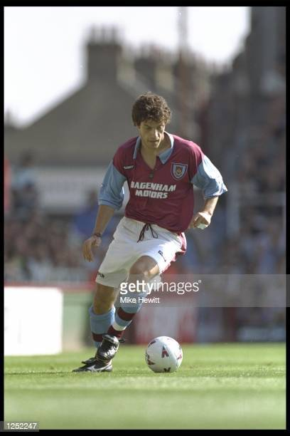 Slaven Bilic of West Ham in action during the FA Carling Premiership match between West Ham and Wimbledon at Upton Park in London Mandatory Credit...