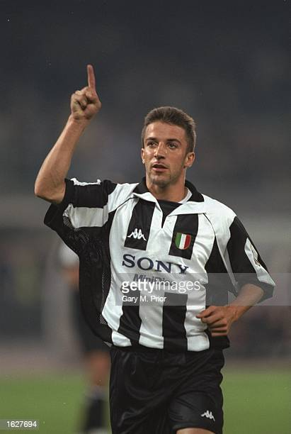 Alessandro del Piero of Juventus celebrates during the Champions League match against Feyenoord in Turin Italy Juventus won the match 51 Mandatory...