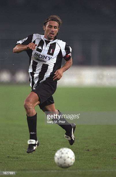 Antonio Conte of Juventus in action during the Champions League match against Feyenoord in Turin Italy Juventus won the match 51 Mandatory Credit...