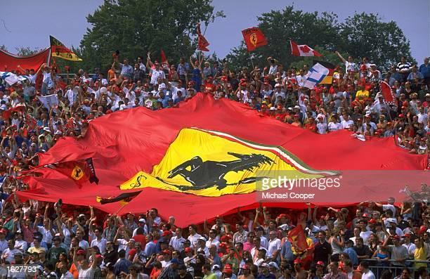 Ferrari Tifosi create a unique atmosphere at the Italian Grand Prix in Monza Italy Mandatory Credit Mike Cooper /Allsport