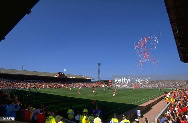 General view of Oakwell during the FA Carling Premiership match against West Ham United in Barnsley England Mandatory Credit Phil Cole /Allsport