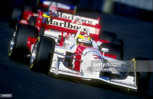 Andre Ribeiro of Team Marlboro Penske and driver of the Penske Mercedes PC98 in action during the CART Molson Indy Vancouver in Vancouver BC Canada...