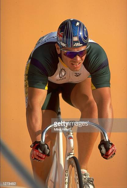 Darryn Hill of Australia during the Mens Spints at the Commonwealth Games in Kuala Lumper MalaysiaDarryn Hill won gold in the Mens Sprint Mandatory...