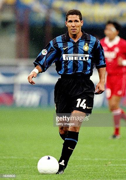 Diego Simeone of Inter Milan in action during the Serie A match against Piacenza in Milan Italy Inter won the game 10 Mandatory Credit Allsport UK...