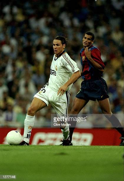 Fernando Redondo of Real Madrid in action during a match against Barcelona in Madrid Spain The game ended in a draw 22 Mandatory Credit Clive Mason...