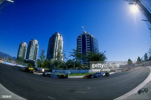 General view of cars and scenery during the CART Molson Indy Vancouver in Vancouver BC Canada Mandatory Credit Robert Laberge /Allsport