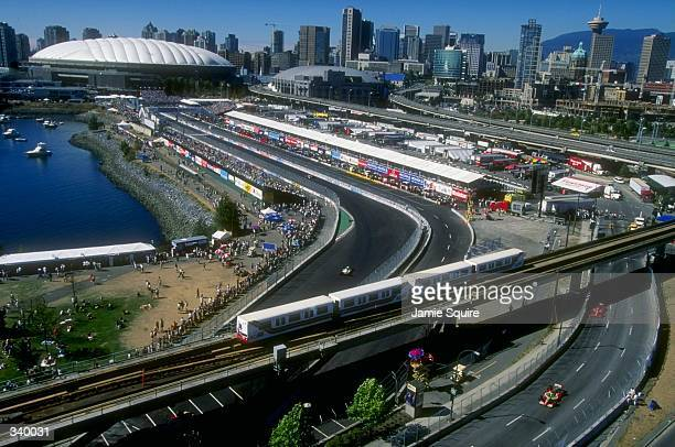 General view of the circuit during the CART Molson Indy Vancouver in Vancouver BC Canada Mandatory Credit Jamie Squire /Allsport