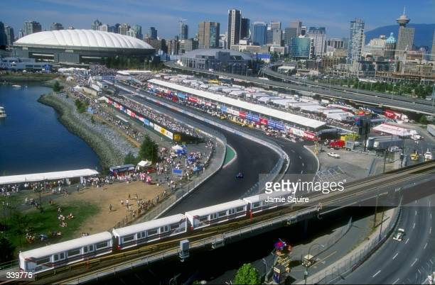 General view of the city during the CART Molson Indy Vancouver in Vancouver BC Canada Mandatory Credit Jamie Squire /Allsport