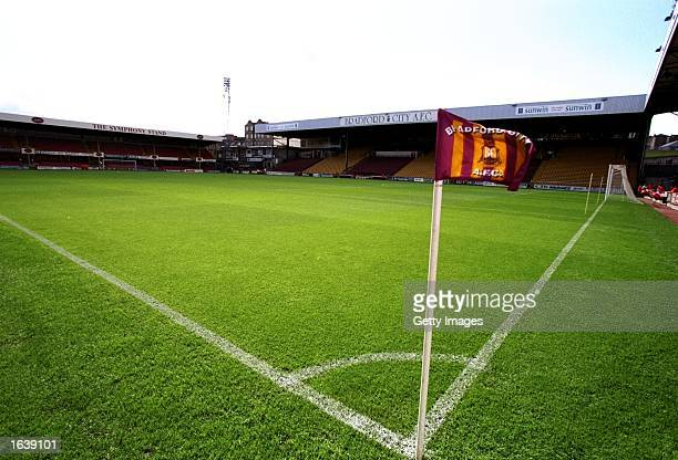 General view of Valley Parade before the Nationwide Division One game between Bradford City and Sheffield United in Bradford England Photo Rob Casey...