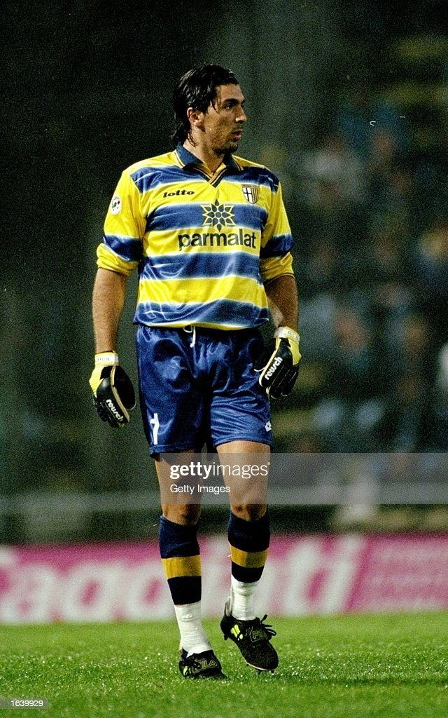 Giaulaigi Buffon of Parma in action during the Italian Serie A match against Juventus at the Delle Alpi Stadium in Torino Italy Mandatory Credit...