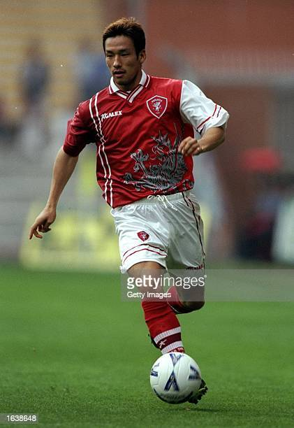 Hidetoshi Nakata of Perugia in action during Serie A match against Sampdoria at the Luigi Ferraris Stadium in Genoa Italy The game ended 11 Photo...
