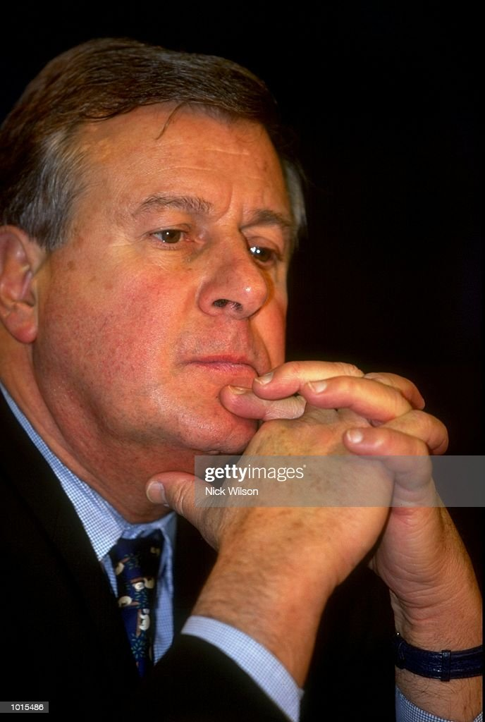 Portrait of Francois Garrard, the Director General of the IOC during the Sydney 2000 Olympics Media Conference at the NSW Parliament House, Sydney, Australia. \ Mandatory Credit: Nick Wilson /Allsport