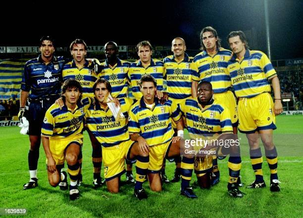 The Parma team pose for a group shot before the Serie A game against Vicenza in Parma Italy The game ended in a draw 00 Mandatory Credit Allsport UK...