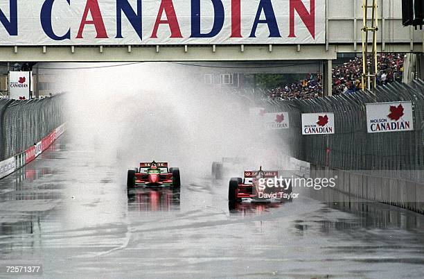 A general view of the start of the Molson Indy Vancouver part of the CART FedEx Championship Series at the Concord Pacific Place in Vancouver British...