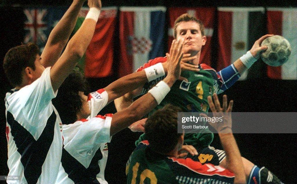 D. McCormack of Australia in action during the match between Australia v Japan at the Southern Cross International Handball Challenge, at the Buring Pavilion, Sydney Olympic Park Homebush, Sydney Australia. Mandatory Credit: Scott Barbour/ALLSPORT