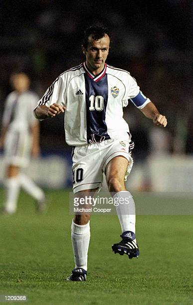 Dejan Savicevic of Yugoslavia during the Euro 2000 qualifier against the Republic of Ireland at Lansdowne Road in Dublin Ireland Mandatory Credit...