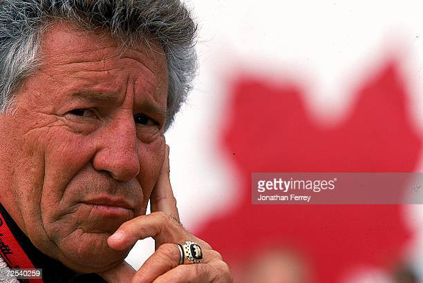 Driver Mario Andretti of the USA poses for the camera during the Molson Indy Vancouver part of the CART FedEx Championship Series at the Concord...