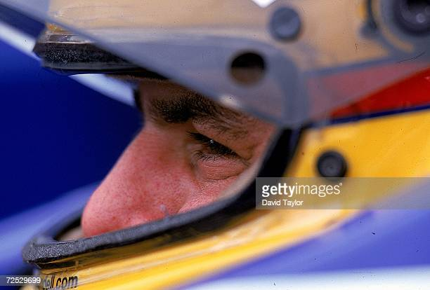 Driver Mark Blundell of Great Britain driving the Mercedes Reynard 99I for Pacwest Racing sits ready in his car during the Molson Indy Vancouver part...