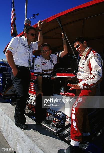 Driver Scott Pruett of the USA who drives the Toyota Reynard 99I for MCI/ArcieroWells Racing is in pit lane during practice for the Molson Indy...