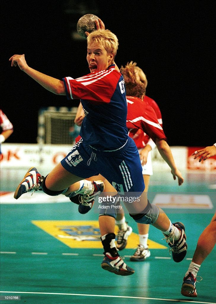 Else-Marthe Sorlie of Norway shoots for goal during the match between Norway and Denmark at the Southern Cross International Handball Challenge, at the Buring Pavilion, Sydney Olympic Park Homebush, Sydney Australia. Mandatory Credit: AdamPretty/ALLSPORT