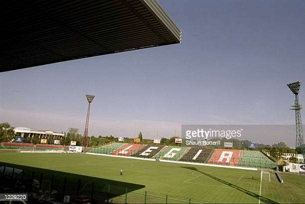 General view of the Legia Stadium before the European Championship Group 5 qualifier between Poland and England in Warsaw Poland Mandatory Credit...