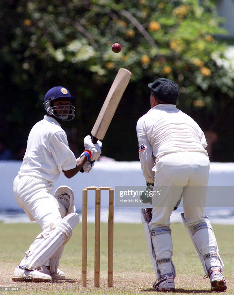 Ian Healy of Australia and Suresh Perera of the Board XI carefully watch a high ball, during two of the Tour match between the Sri Lanka Board XI and Australia at Colombo Cricket Club, Colombo, Sri Lanka. Mandatory Credit: Hamish Blair/ALLSPORT