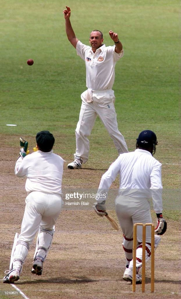Ian Healy of Australia moves in to catch Mario Villavarayen off Colin Miller's bowling, again the catch was given not out, during day two of the tour match between the Sri Lanka Board XI and Australia at Saravanamuttu Stadium, Colombo, Sri Lanka. Mandatory Credit: Hamish Blair/ALLSPORT