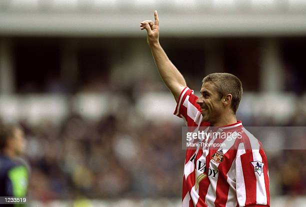 Kevin Phillips of Sunderland during the FA Carling Premiership match against Derby played at Pride Park in Derby England Sunderland won the game 50...