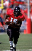 Lamont Jordan of the Maryland Terrapins carries the ball during the game against the West Virginia Volunteers at Byrd Stadium in College Park...