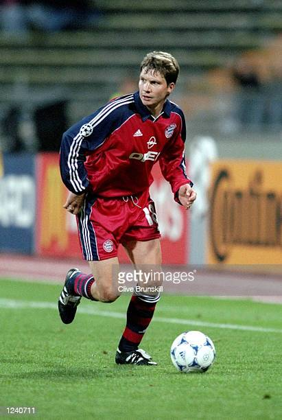 Michael Tarnat of Bayern in action during the Bayern Munich v Valencia UEFA Champions League Group F match played at the Olympic Stadium Munich...