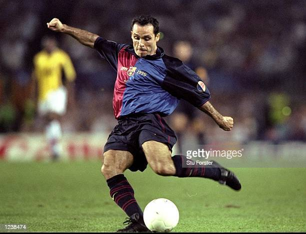 Sergi of Barcelona in action during the Barcelona v Arsenal UEFA Champions League Group B match played at the Nou Camp Barcelona Spain The game...