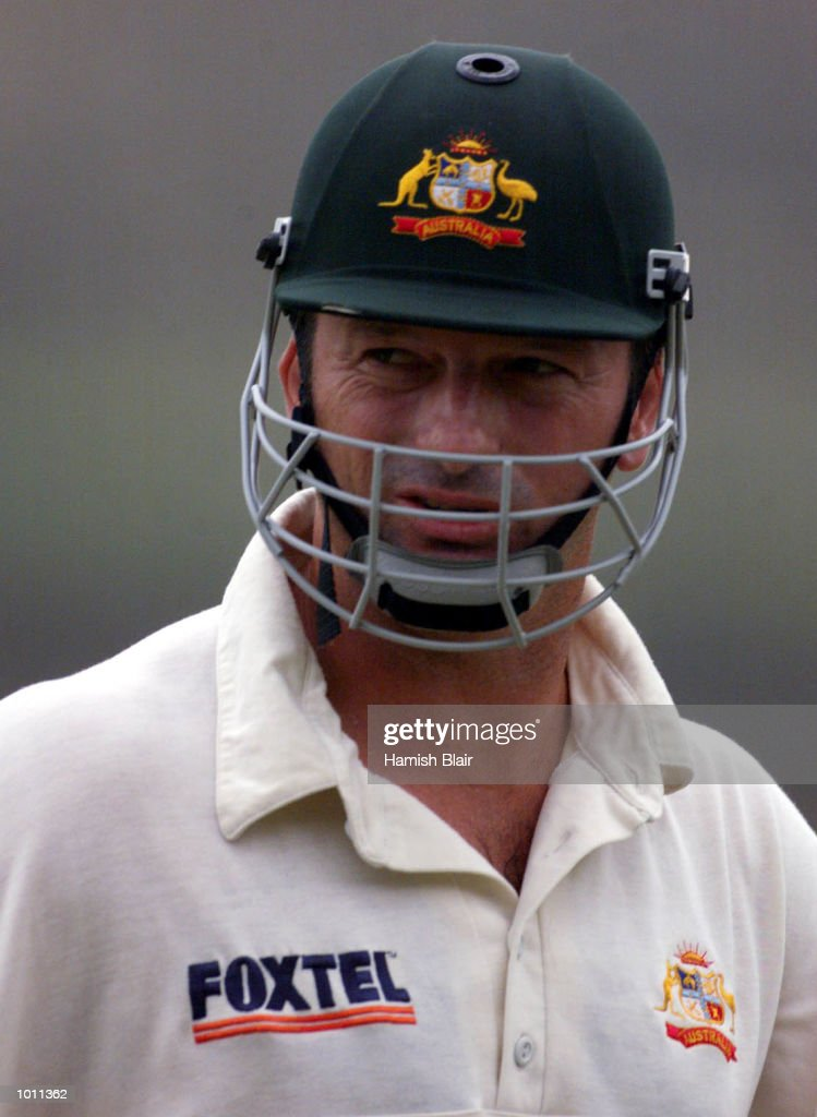 Steve Waugh of Australia leaves the field not out 2 at the end of play, during day two of the second test between Sri Lanka and Australia at Galle International Stadium, Galle, Sri Lanka. Mandatory Credit: Hamish Blair/ALLSPORT