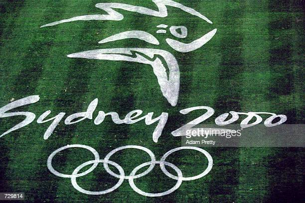 A general view of the Sydney Olympic Logo on the Field taken during Sydney 2000 Olympic Games at the Olympic Stadium in Sydney AustraliaMandatory...