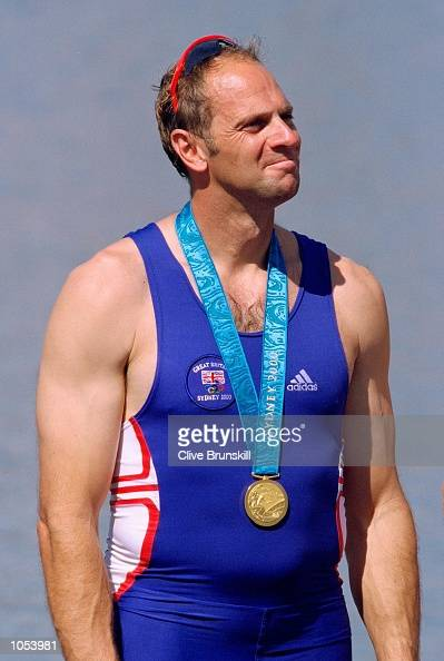 A proud moment for Steve Redgrave of Great Britain after winning gold in the Men's Coxless Four Rowing Final at the Sydney International Regatta on...