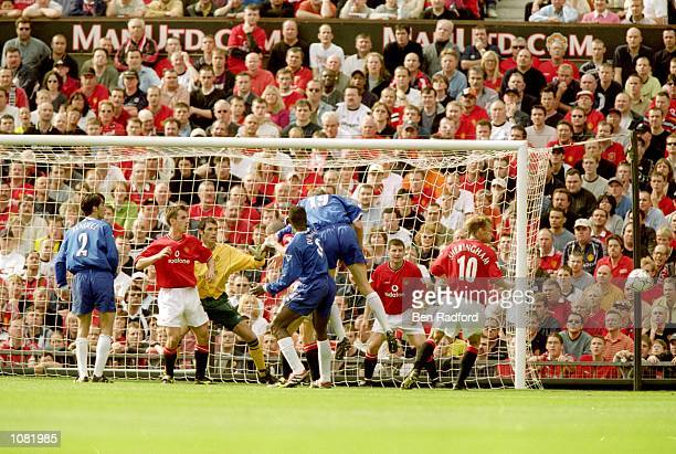 Chelsea on the attack during the FA Carling Premiership match against Manchester United at Old Trafford in Manchester England The match was drawn 33...