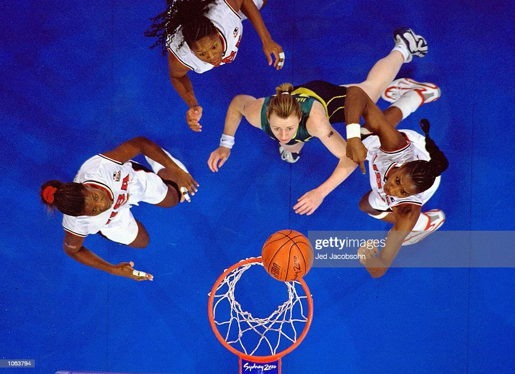 General overhead view from the Womens Basketball Final between Australia and the USA at the Sydney SuperDome on day 15 of the Sydney 2000 Olympic Games in Sydney, Australia. \ Mandatory Credit: Jed Jacobsohn /Allsport