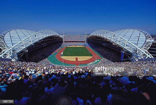 General view of the Olympic Stadium on Day 14 of the Sydney 2000 Olympic Games in Sydney Australia Mandatory Credit Adam Pretty /Allsport