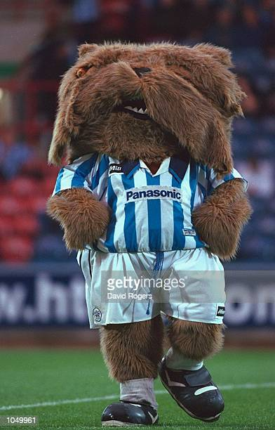 Huddersfield Town mascot during the Worthington Cup first round second leg match against Oldham Athletic at the McAlpine Stadium in Huddersfield...