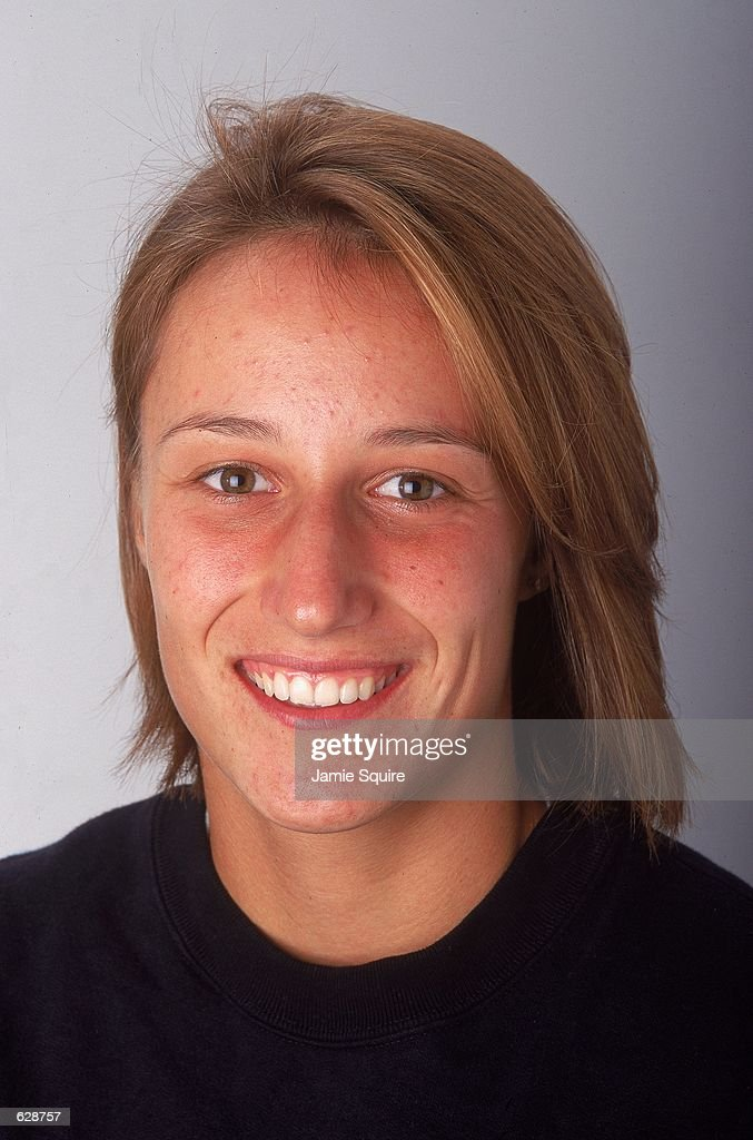 Katarina Srebotnik poses for a studio portrait during the US Open in Flushing Meadows, New York.Mandatory Credit: Jamie Squire /Allsport