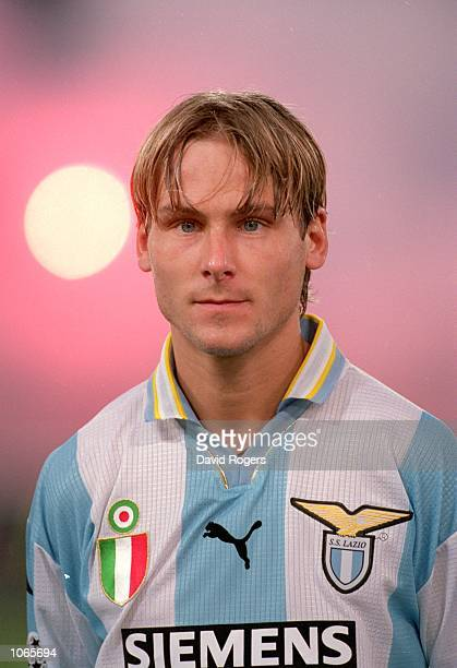 Pavel Nedved of Lazio in action during the UEFA Champions League match against Sparta Prague at the Stadio Olimpico in Rome Italy Lazio won the match...