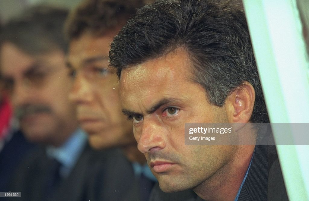 Portrait of Jose Mourinho the Benfica Coach during the UEFA Cup first round second leg match against Halmstads at the Stadium of Light in Lisbon...