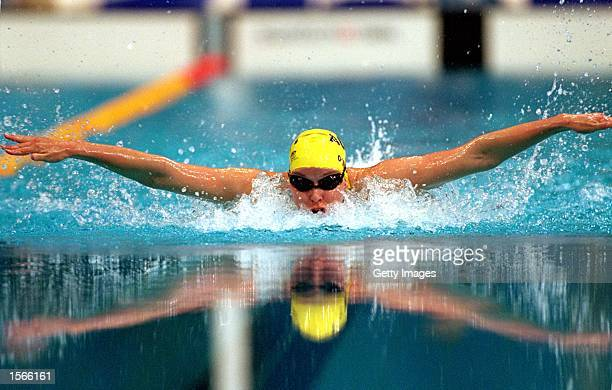 Susie O''Neill of Australia in action during the Women's 200m Butterfly heats held at the Sydney International Aquatic Centre during the Sydney 2000...