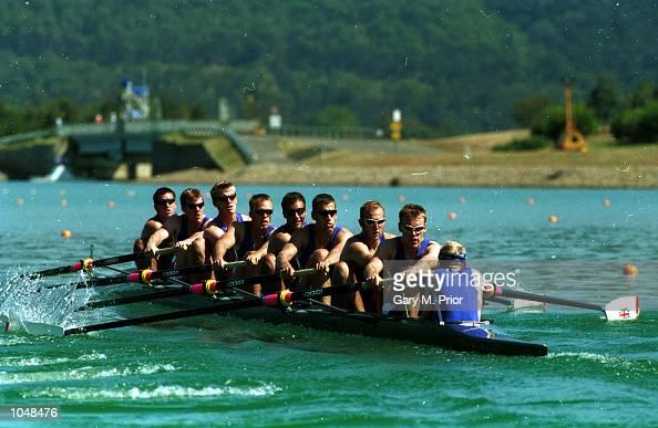 The British team in the mens eight during the Sydney 2000 Olympic Games at the Sydney International Regatta Centre Sydney Australia Mandatory Credit...