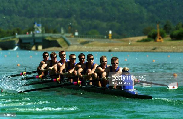 The British team in the mens eight during the Sydney 2000 Olympic Games at the Sydney International Regatta Centre Sydney Australia Mandatory Credit...