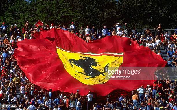 The Ferrari Tifosi in action during the Italian Formula One Grand Prix at Monza in Italy Mandatory Credit Mark Thompson /Allsport