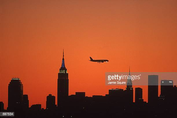 A general view of the skylines a dusk during the US Open at the USTA National Tennis Center in Flushing New YorkMandatory Credit Jamie Squire...