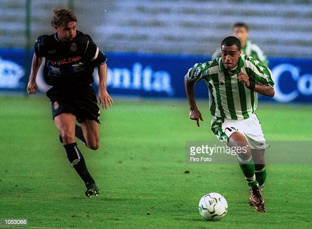 Denilson of Betis during the Primera Liga game between Real Betis and Espanyol played at the Manuel Ruiz de Lopera Stadium Seville Mandatory Credit...
