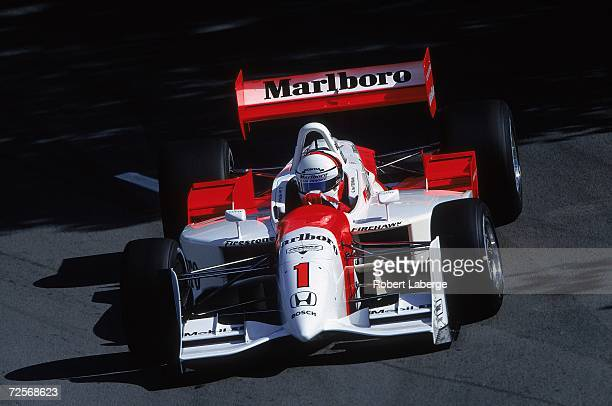 Gil de Ferran of Brazil who drives the Honda Reynard for Marlboro Team Penske driving on the track during the Molson Indy part of the CART FedEx...