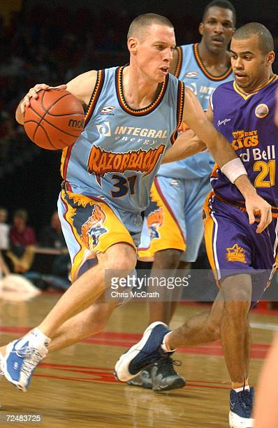 John Rillie of the Razorbacks in action during the NBL match between the Sydney Kings and the West Sydney Razorbacks held at the Sydney Superdome...